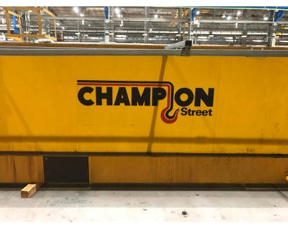 Champion Street Crane 5 ton single girder overhead travelling crane.